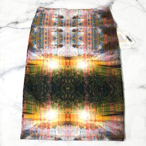 Lularoe Cassie Sunburst Geometric Design Skirt